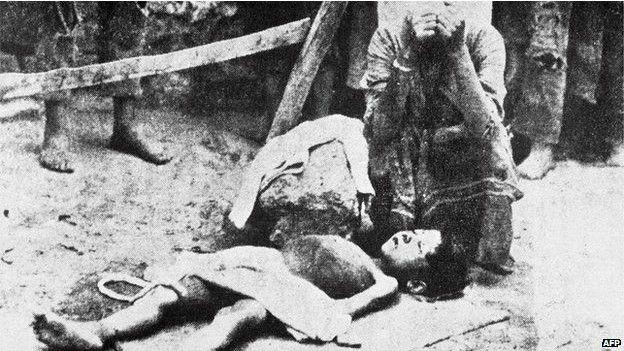 Imagenes de victimas de matanza de armenios en Turquía
