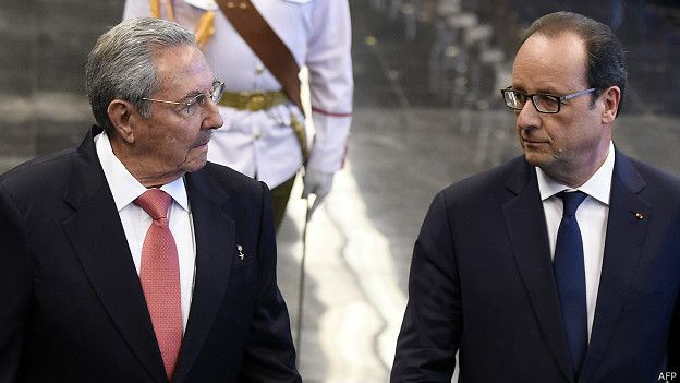Raúl Castro, Francois Hollande