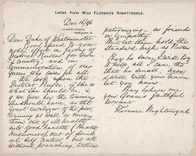Carta de Florence Nightingale