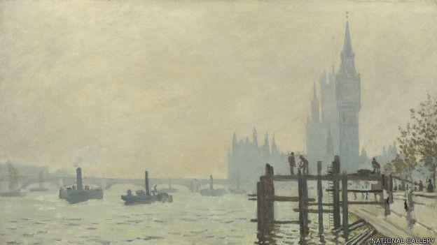 El Támesis abajo de Westminster, de Claude Monet