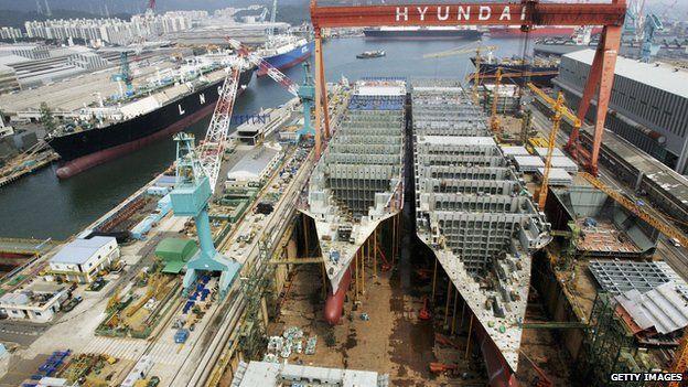 El astillero de Hyundai