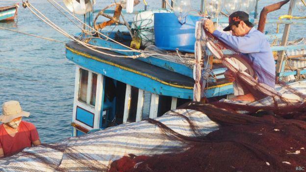 Ngư dân trên đảo Lý Sơn