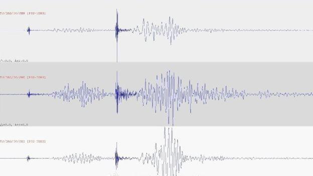 Gráfico sonoro de la segunda explosión