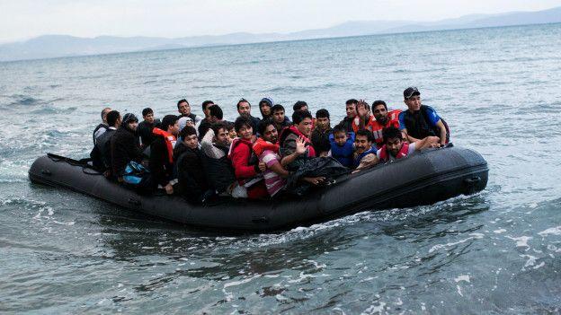 Refugiados sirios rumbo a Turquía