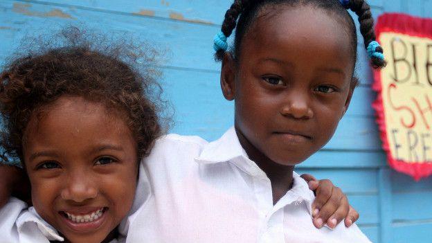 Niñas afrocolombianas en Cartagena
