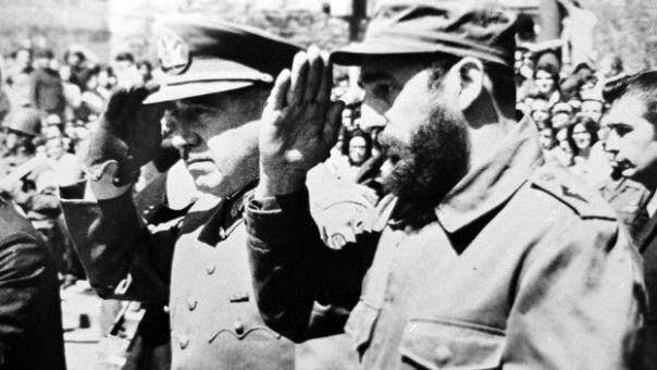 Fidel Castro y Augsuto Pinochet.