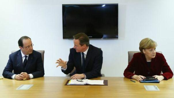 Líderes de Francia, Reino Unido y Alemania