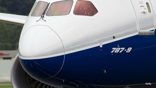 Avión Boeing Dreamliner 787-9 estacionado en el aeropuerto de Seattle. Foto: Getty