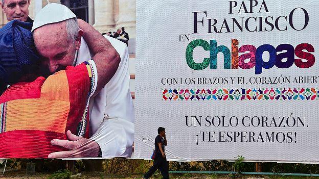 Cartel del Papa en Chiapas