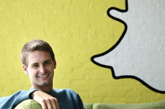 Evan Spiegel fundó Snapchat cuando tenía 23 años en 2011.