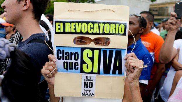Opositor en Venezuela