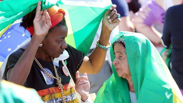 Partidarias de Dilma Rousseff