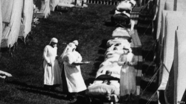 Enfermeras en Massachusetts en 1918