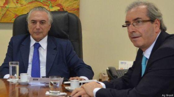 Michel Temer e Eduardo Cunha, em foto de março (Ag Brasil)