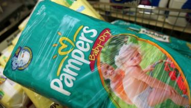 Una de las marcas de Procter and Gamble, Pampers.