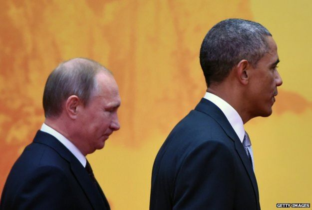 Putin y Barack Obama