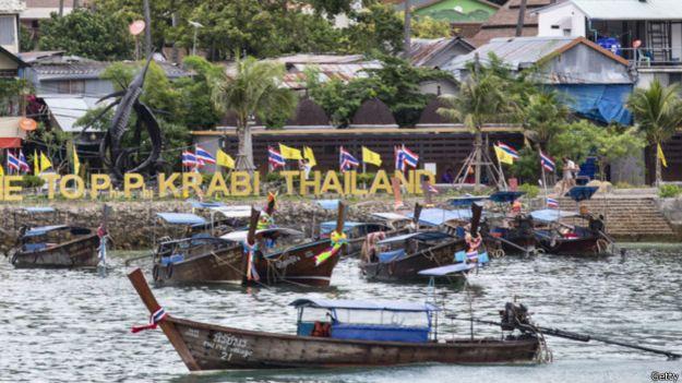 Imagen de la costa de Krabi, sur de Tailandia.