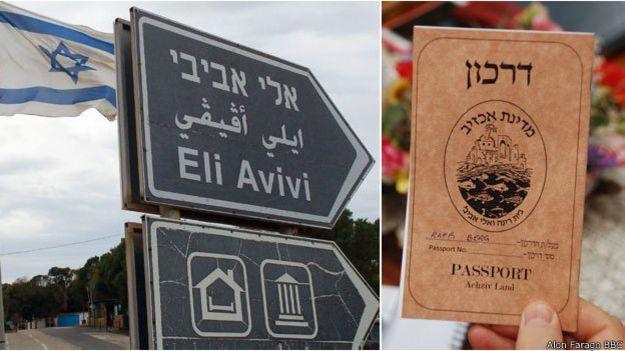 Cartel y pasaporte de Achzivland
