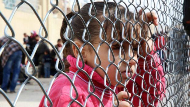 Niña siria refugiada