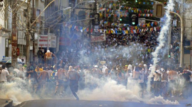 Protesto em Salvador em junho de 2013   Foto: AFP