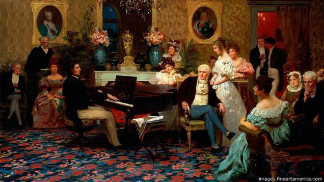 Hendryk Siemiradzki (1887): Chopin tocando para la familia Radziwiłłs