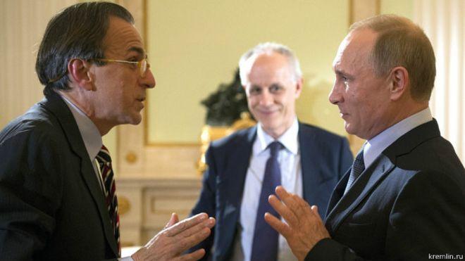 Путин и итальянские журналисты