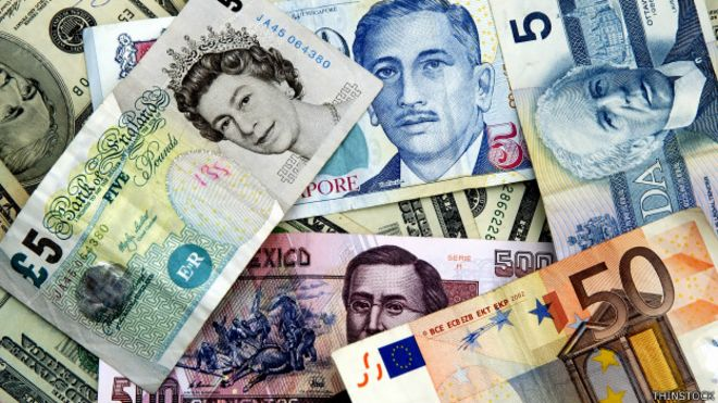 Para averiguar el poder adquisitivo global de los billetes los comparamos con el dólar estadounidense.