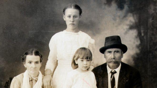 Una familia de emigrantes rusos en Hawái