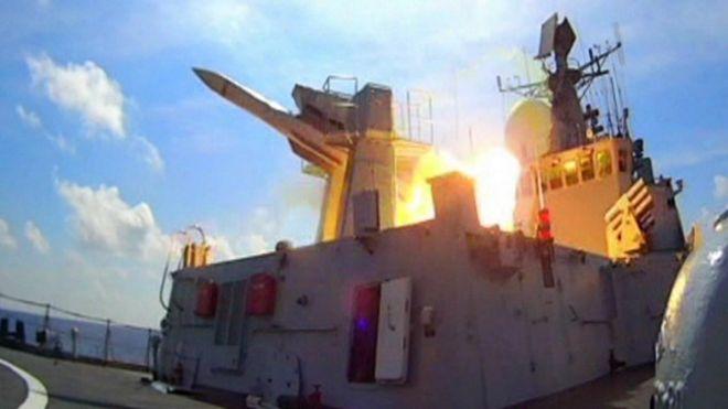 Trung Quốc diễn tập quân sự bắn đạn thật tại Biển Đông