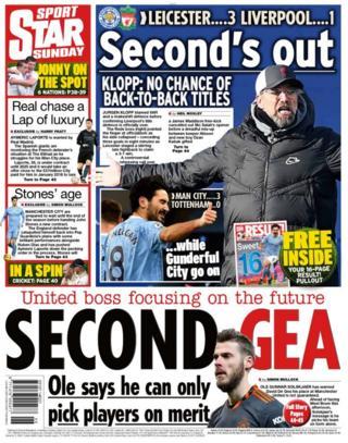 Sunday's back pages: Star Sport - 'Second De Gea'
