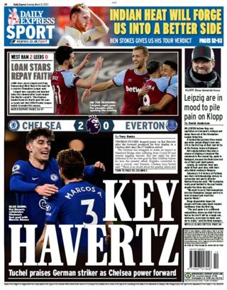 Tuesday's Express back page
