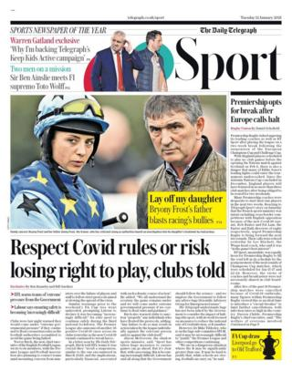 Tuesday's Telegraph