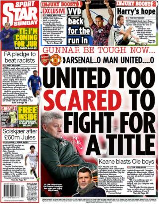 The back page of the Star on Sunday