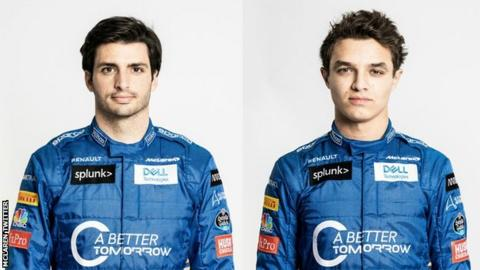 Carlos Sainz Jr and Lando Norris