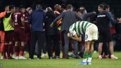 Celtic were through with 11 minutes left but conceded two late goals