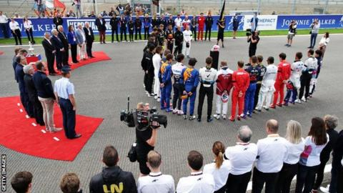 F1 drivers paid their respects before Sunday's race
