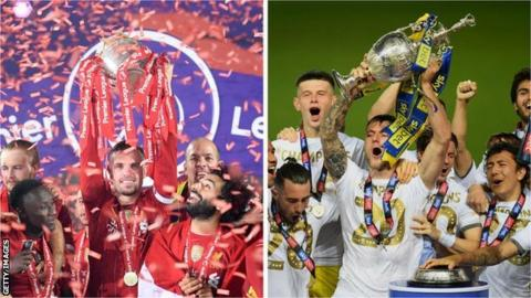 Liverpool and Leeds lift their trophies