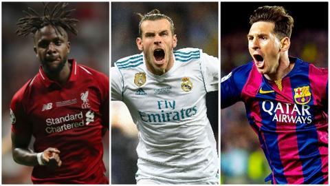 sport Divock Origi, Gareth Bale and Lionel Messi