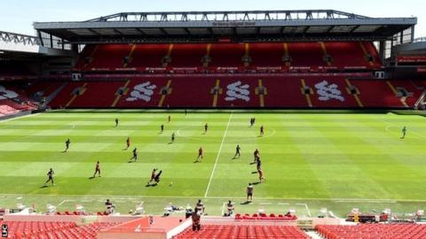 Liverpool training session at Anfield