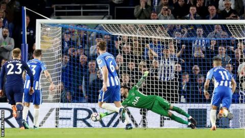 There were just 143 seconds between Harry Kane giving Spurs the lead, and Pascal Gross' equaliser