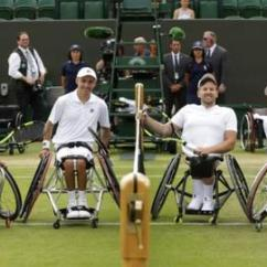 Wheelchair Quad Wood Bankers Chair Wimbeldon Events Added To Schedule In 2019 Bbc Sport David Wagner Dylan Alcott Andy Lapthorne And Lucas Sithole Before An Exhinition Match