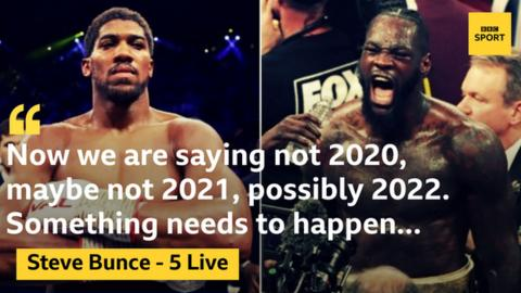 sport Steve Bunce sees any Anthony Joshua bout with Deontay Wilder or Tyson Fury being some time off