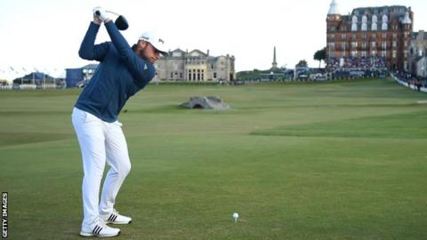 Tyrrell Hatton at the 18th at St Andrews