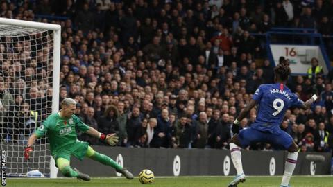 Tammy Abraham scores for Chelsea