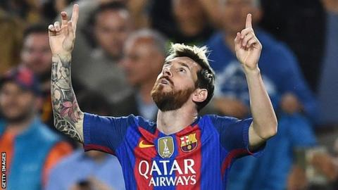 Lionel Messi Barcelona forward scores 500th club goal  BBC Sport