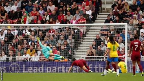 Earlier this month, 29,238 fans watched England's defeat by Brazil at Middlesbrough, which was a new record for a Lionesses match outside Wembley