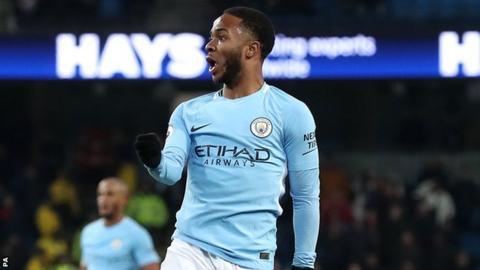 Raheem Sterling celebrates his goal against Southampton