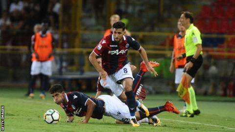 Algeria's Saphir Taider in action for Bologna
