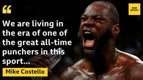 sport Mike Costello says Deontay Wilder is the biggest puncher he has seen in his lifetime