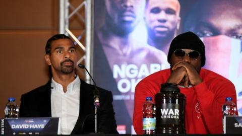 David Haye (left) and Dereck Chisora (right)